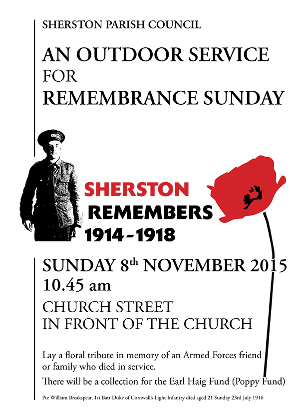 Remembrance Day2015 poster