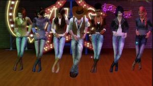 Line dance feet